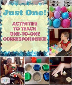 Many people think of learning to count as the basic, beginning math skill to teach to children, but even before a child can learn to count, he must master the pre-math concept of one-to-one correspondence. Here are some accessible activities to help teach that concept!