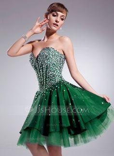Homecoming Dresses - $148.99 - A-Line/Princess Sweetheart Knee-Length Taffeta Tulle Homecoming Dress With Beading (022020933) http://jjshouse.com/A-Line-Princess-Sweetheart-Knee-Length-Taffeta-Tulle-Homecoming-Dress-With-Beading-022020933-g20933