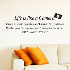 Life is like a Camera. Focus on what's important and by 7decals, $19.99
