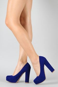 chunky blue heels- i'm being brave and wearing these to a wedding reception. My ankles will not be happy with me!