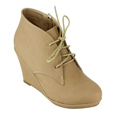 Show off your fashion sense by wearing these lace-up booties. Ideal for a night on the town, these Bella Marie booties include a side zipper that makes them easy to put on and remove. A padded insole