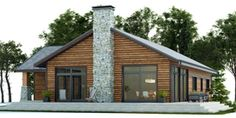 House Plan Modern House Plan to Modern Family. Small Cottage House Plans, Three Bedroom House Plan, Bungalow House Plans, Ranch House Plans, New House Plans, Modern House Plans, Self Build Houses, Craftsman Style Homes, Forest House