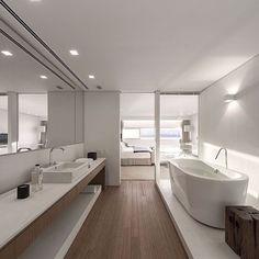 Tudo integrado  All integrated #bath #bathdecor #bedroom #gorgeous #amazing #bathrooms