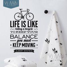 Naklejka na ścianę Rower Decorato.eu - Nasze Inspiracje Twój Dom Albert Einstein, Dom, Life