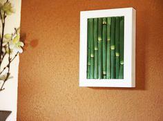 Real Horsetail Plant Framed Art  Zero Care Dried by ArtisanMoss,