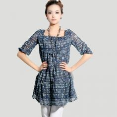 $76.00 2013 spring new brand women's counters authentic silk chiffon print bottoming shirt dresses summer skirts the main