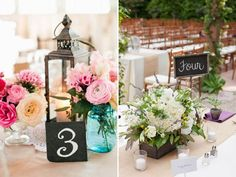 QuirkyParties Table Number Inspiration -