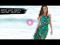 Lucy Hale is off to Saint Barts with mark.! To Shop the mark boutique go to www. youravon.com/srudek