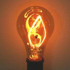 Bulbs Ferrowatt 15026 - Fire Light Bulb - Brand: Ferrowatt Features: Average Lifetime: 3000 hours Publisher: Ferrowatt Details: 15 watt - 120 volt - European Medium Screw Base - Ball-O-Fire? Antique Light Bulbs, Antique Lighting, Bathroom With Makeup Vanity, Steampunk Crafts, Base Ball, Pipe Lamp, Cool Lighting, Lighting Ideas, Amber