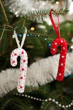 Bastones de Navidad de fieltro