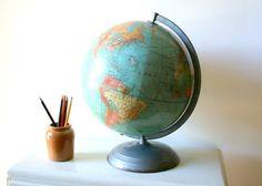 Old Industrial School Globe photography print by CaptainCat, $16.00 #teampinterest