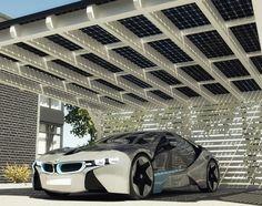 bmw x solarwatt solar energy carport system garages transporter bmw i8 bmw