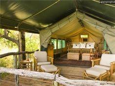 Honeymoon glamping safari?? yes please!!!! Luxury Safari Tents Botswana | Game Reserve Glamping