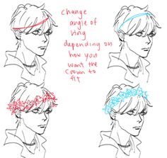 How to draw a flower crown