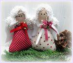 Мобильный LiveInternet Текстильные игрушки для елочки и новогоднего венка | Марриэтта - Вдохновлялочка  Марриэтты |