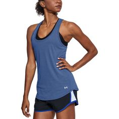 Under Armour Women Streaker Tank Cool Signatures, Running Tank Tops, Athletic Fashion, Program Design, Workout Tanks, Plus Size Tops, Under Armour Women, Chambray, Basic Tank Top