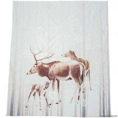 J-Line Plaid hert polyester wit 160x130
