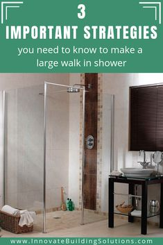 Here are the 3 important strategies you NEED to know in order to have a large walk in shower for you bathroom Cheap Bathroom Remodel, Bathroom Renovations, Home Remodeling, Bathroom Shower Faucets, Small Bathroom, Bathroom Showers, Bathrooms, Innovation, Luxury Shower