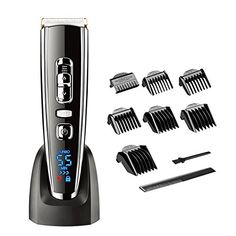 HATTEKER Electric Hair clippers for Men Hair Trimmer Grooming Kit Set Hair Clippers Cordless Waterproof Hair Shaver LED Display USB Charger Haircut Hair Cutting Ceramic Blade Rechargeable Black. For product & price info go to:  https://beautyworld.today/products/hatteker-electric-hair-clippers-for-men-hair-trimmer-grooming-kit-set-hair-clippers-cordless-waterproof-hair-shaver-led-display-usb-charger-haircut-hair-cutting-ceramic-blade-rechargeable-black/