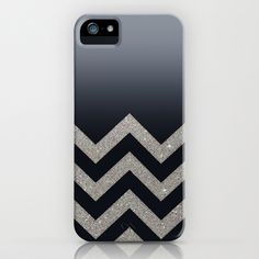 BLACK FADING SILVER CHEVRON iPhone & iPod Case by Monika Strigel - $35.00