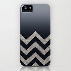 BLACK FADING SILVER CHEVRON iPhone & iPod Case by Monika Strigel - $35.00