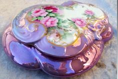 """1900's Limoges porcelain dresser box hand painted by the artist """"A.E. Williams"""" from our collection."""