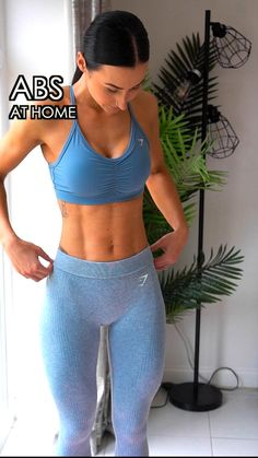 Fitness Workouts, Gym Workout Videos, Best Ab Workout, At Home Workout Plan, Fun Workouts, Workout Abs, At Home Workouts For Women, Abs Workout For Women, Workout Bauch