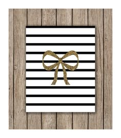 Glitter Bow with Stripes Design Instant Download of by LunaSavita