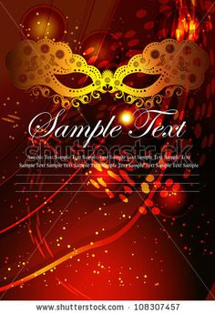 Vector Masquerade Party Poster / Masks For A Masquerade / Vector Beautiful Party Mask. - 108307457 : Shutterstock invitations...