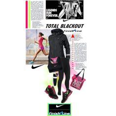 """""""Nike Total Blackout"""" by piedraandjesus on Polyvore"""