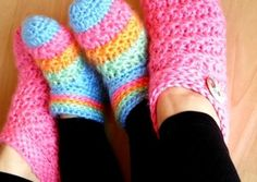You will love these Unisex Crochet Slippers and we have free patterns in Knitted versions also. Check out all the great ideas now.