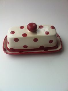 Hey, I found this really awesome Etsy listing at http://www.etsy.com/listing/117999196/red-polka-dot-butter-dish