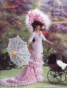 1875 Mother's Sunday Frock for Barbie Paradise #74 Crochet PATTERN (NO DOLL) NEW #ParadisePublications #DollClothes