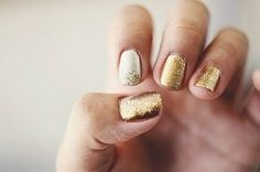 Sparkly Nails #Gold #Silver #Manicure