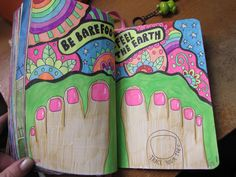 wreck this journal trace your toes