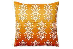 Rama 20x20 Embroidered Pillow, Orange on OneKingsLane.com. $89.00