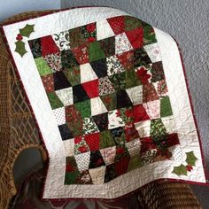Tumbling Toward Christmas quilt by Janet. Share your projects on Quilter's Spotlight!