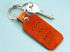 Want an inspirational gift? This handmade Life Is Good leather keyring would make an excellent leather gift for mom. This leather keychain would also make an ideal best friend gift for a birthday. Also, handmade leather goods make great anniversary gifts. Check out my Etsy shop!! #keyring #keychain #anniversarygift #lifeisgood Leather Bookmark, Leather Keyring, Leather Gifts, Handmade Leather, Motivational Gifts, Inspirational Gifts, Great Anniversary Gifts, Meaningful Gifts