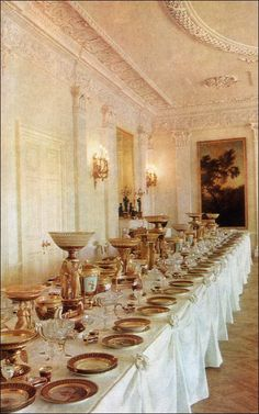 Imperial Pavlovsk Palace & Park, Country Residence of the Russian Imperial Family: State Dining Room