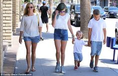 Just like mum! Reese Witherspoon and her children Ava, Tennessee, and Deacon all matched as they headed to lunch at California Chicken Cafe in Santa Monica, California, on Saturday