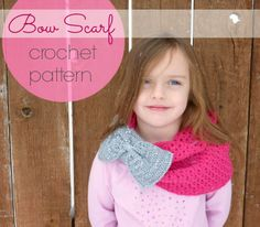 Domestic Bliss Squared: Bow scarf (free!) crochet pattern