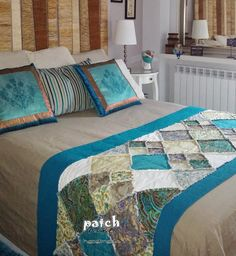 make bed runner and cushions Bed Runner, House Furniture Design, Home Furniture, Skinny Quilts, Diy Home Decor, Room Decor, Quilt As You Go, Quilted Wall Hangings, Quilt Bedding