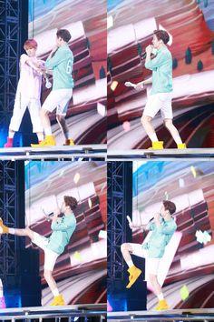 Baekhyun, Chanyeol - 170318 Exoplanet - The EXO'rDium in Kuala Lumpur Credit: Spunky Action, Baby! Baekyeol, Chanbaek, Park Chanyeol, Baekhyun Chanyeol, Park Chaeyoung, What Is Life About, Kuala Lumpur, Baby, Action