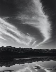 Ansel Adams - Sierra Nevada, winter evening, from the Owens Valley Sierra Nevada, West Coast Road Trip, Road Trip Usa, Black And White Landscape, Black N White Images, Black White, California Camping, Nevada California, Black And White