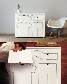 Training Dresser by Peter Bristol. #p_roduct • #product #productdesign #children #kids #clothing #clothes #creative #furniture #dress