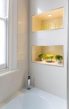 Trendy Bathroom Storage Over Toilet Bathtubs 61 Ideas Bathroom Storage Over Toilet, Bathroom Niche, Shower Niche, Bathroom Renos, Bathroom Shelves, Bathroom Interior, Small Bathroom, Bath Storage, Bathroom Ideas