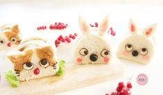 Cute animal sandwiches by Jana Al Ghunaim (@bento_mommy)