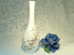 Hand Painted Porcelain  Yamaji Bud Vase  Bird by SandiesGiftCorner, $11.95