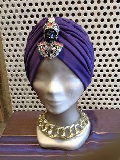 Turbante color malva, moreto veneciano última moda en BAMBÚ