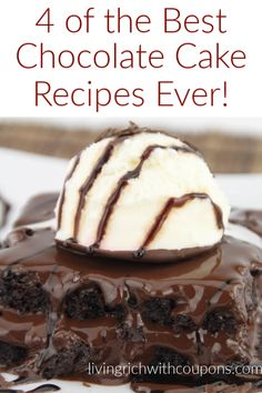 In honor of National Chocolate Cake Day  on January 27th, we wanted to share our all of our AMAZING Chocolate Cake Recipes that we have featured on our site! YUM! #chocolatecake #cakerecipes